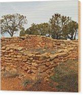 Anasazi Ruins Southern Utah Wood Print by Jeff Swan