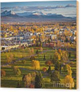 Anchorage Landscape Wood Print by Inge Johnsson