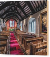 Ancient Welsh Church Wood Print by Adrian Evans