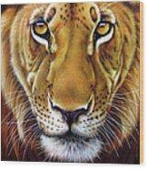 Andre Lion Wood Print by Jurek Zamoyski