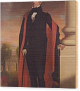 Andrew Jackson Standing Wood Print by War Is Hell Store