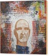 Angel And Man 2 Wood Print by Chris Bradley