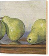 Anjou Pears Wood Print by Lucie Bilodeau