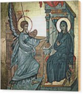 Annunciation Wood Print by Filip Mihail