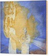 Annunciation Wood Print by John Meng-Frecker