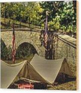 Antietam - 8th Connecticut Volunteer Infantry-a1 Encampment Near The Foot Of Burnsides Bridge Wood Print by Michael Mazaika
