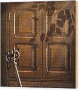 Antique Cabinet Wood Print by Amanda Elwell