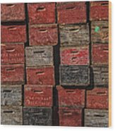 Apple Crates Wood Print by Garry Gay