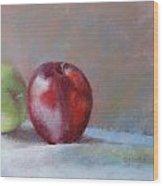 Apples Wood Print by Nancy Stutes
