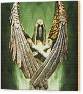 Archangel Azrael Wood Print by Bill Tiepelman
