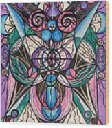 Arcturian Healing Lattice  Wood Print by Teal Eye  Print Store