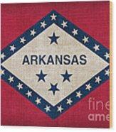 Arkansas State Flag Wood Print by Pixel Chimp