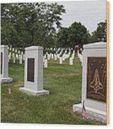 Arlington National Cemetery - 01138 Wood Print by DC Photographer