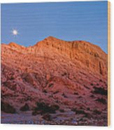 Arroyo Moonrise Wood Print by Peter Tellone