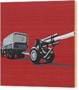 Artillery Gun Wood Print by Slade Roberts