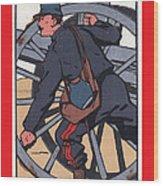 Artilleur 1915 With Fgb Border Wood Print by A Morddel