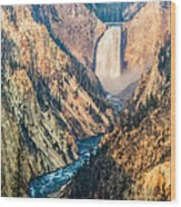 Artist Point In Yellowstone Wood Print by Andres Leon