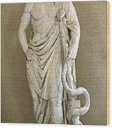 Asclepius. 4th C. Bc. Classical Greek Wood Print by Everett