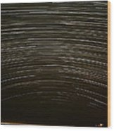Assateague Star Trails Wood Print by Benjamin Reed
