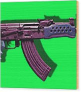 Assault Rifle Pop Art - 20130120 - V3 Wood Print by Wingsdomain Art and Photography