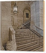 Astor Hall Nypl Wood Print by Susan Candelario
