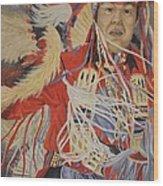 At The Powwow Wood Print by Wanda Dansereau