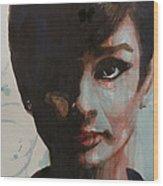 Audrey Hepburn  Wood Print by Paul Lovering