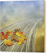 Autumn Bridge Wood Print by Veikko Suikkanen