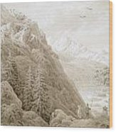 Autumn Wood Print by Caspar David Friedrich