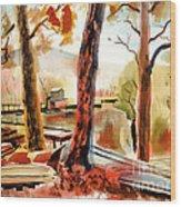 Autumn Jon Boats II Wood Print by Kip DeVore