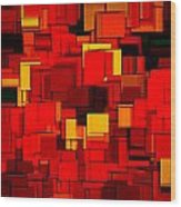 Autumn Modern Abstract Xv Wood Print by Lourry Legarde