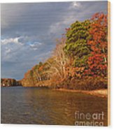 Autumn Storm Approaching Wood Print by Michelle Wiarda