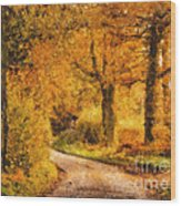 Autumn Trees Wood Print by Pixel Chimp