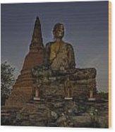 Ayuthaya Thailand Wood Print by David Longstreath