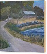Babcock Ranch Webb Lake Wood Print by Kathy Przepadlo