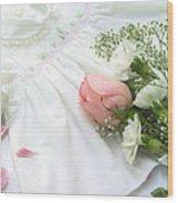 Baby Girl Dress Wood Print by Diane Diederich