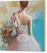 Ballerina's Back  Wood Print by Corporate Art Task Force