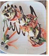 Balsamic Salad Wood Print by Donna Wilson
