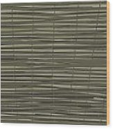 Bamboo Fence - Gray And Beige Wood Print by Saya Studios