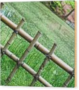Bamboo Fence Wood Print by Brett Price