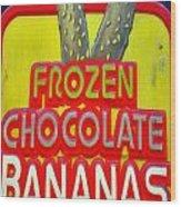 Bananas Wood Print by Skip Willits
