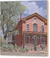 Bannock-montana-hotel Meade Wood Print by Guido Borelli