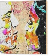 Barack And Michelle  Wood Print by Daniel Janda