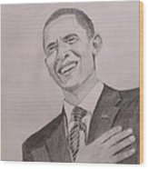 Barack Obama Wood Print by Artistic Indian Nurse