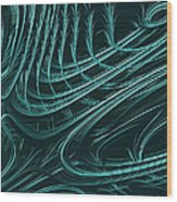Barbed Wood Print by John Edwards