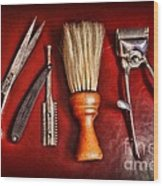 Barber - After The Haircut Wood Print by Paul Ward