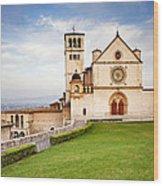Basilica Of Saint Francis Wood Print by Susan Schmitz