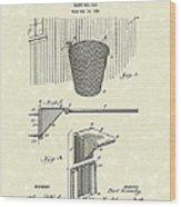 Basketball Hoop 1925 Patent Art Wood Print by Prior Art Design