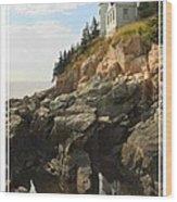 Bass Harbor Head Lighthouse Wood Print by Mike McGlothlen