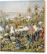 Battle Of Qusimas Wood Print by Kurz and Allison